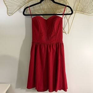 ✨2/$17✨ Dynamite Red Strapless Fit & Flare Dress